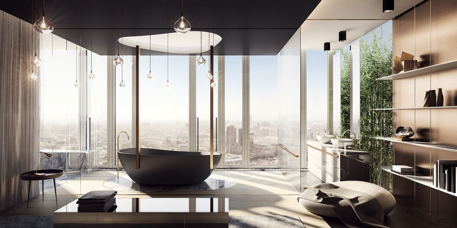 South Bank Tower Super Duplex Bathroom