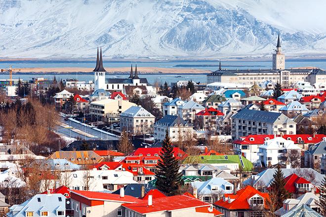 Cityscape Reykjavk, Iceland.