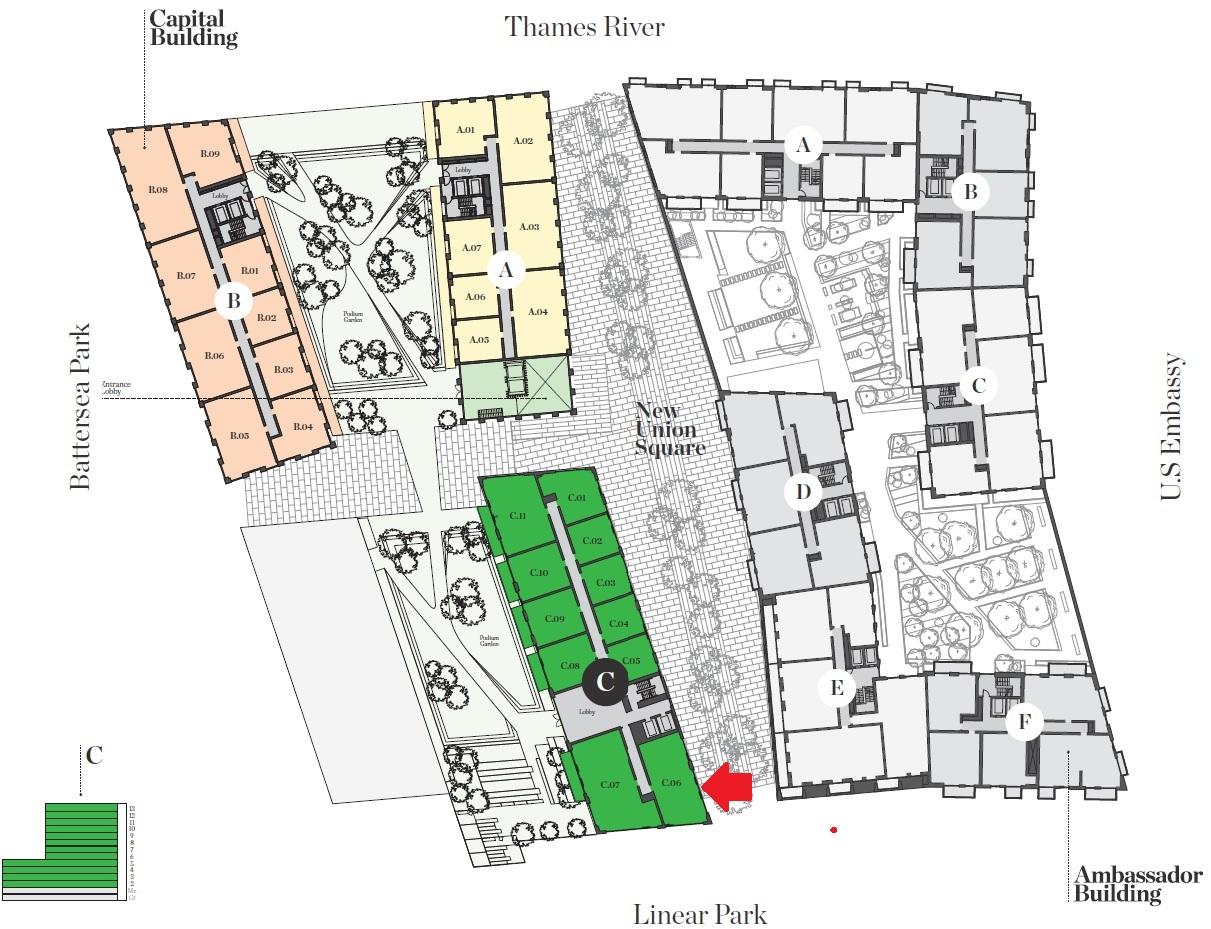 Embassy gardens development nine elms london sw8 for Building site plan